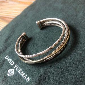 David Yurman Crossover Three-Row Cuff Bracelet
